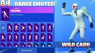 ALL NEW! DANCE EMOTES ON New WILD CARD SKIN! Fortnite Battle Royale
