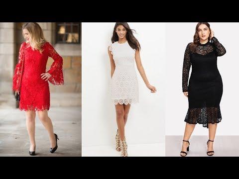👗VESTIDOS DE MODA ELEGANTES Y BONITOS👗  Vestidos De Encaje / Tendencias De Moda / Fashion Love