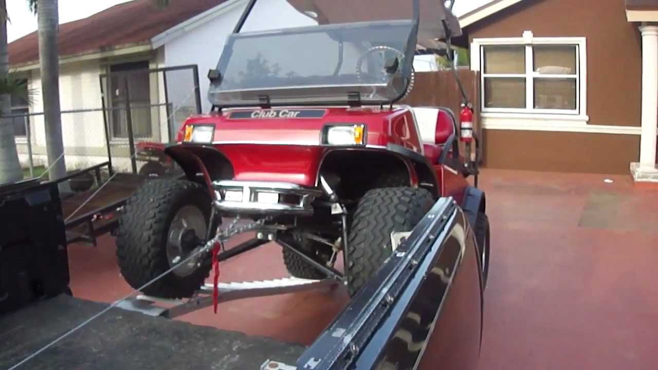 How To Load Your Golf Cart Or Atv Safely On Your Truck