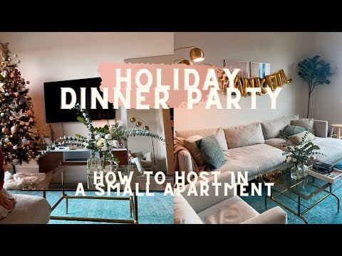 How to Host a Holiday Dinner Party in a Small Apartment! EASY, AFFORDABLE, BEAUTIFUL
