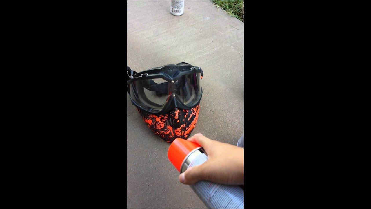Custom Paintball Mask With Spray Paint Youtube