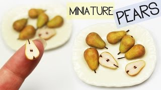 Polymer Clay Pears TUTORIAL | polymer clay food