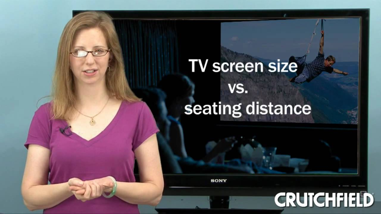 Tv Screen Size Viewing Distance Crutchfield Video Youtube