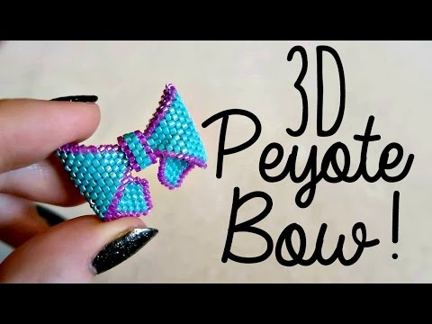 Diy 3d Beaded Bow How To Bead Weaving The Corner Of Craft