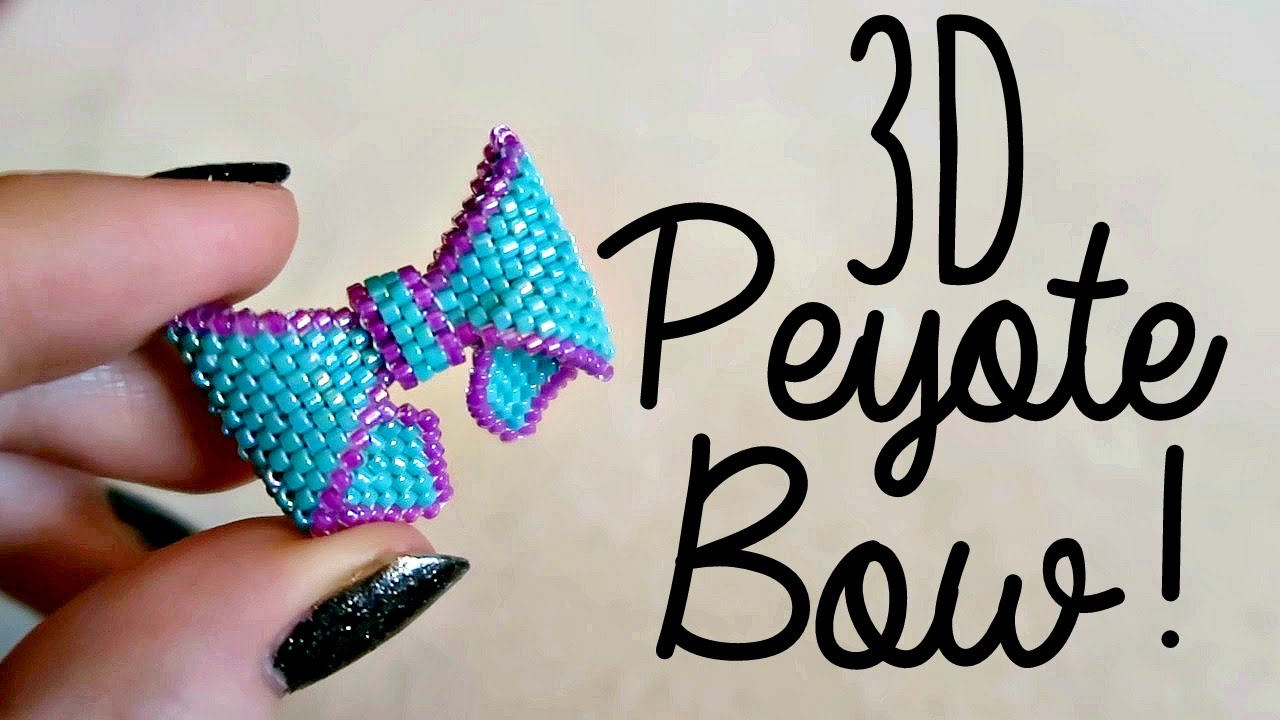 Diy 3d Beaded Bow How To Bead Weaving 166 The Corner