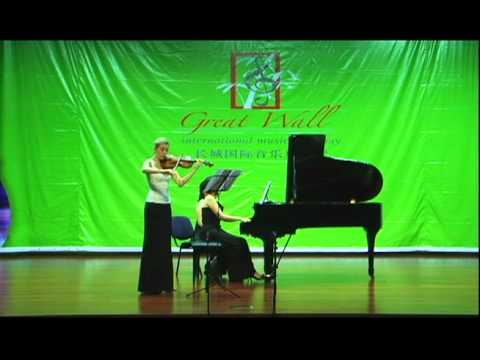 Marina Chiche plays Strauss Sonata in E Flat, 1st Movement