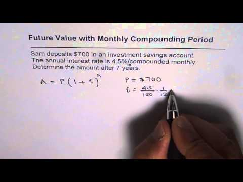 Future Value with Monthly Compounding Period