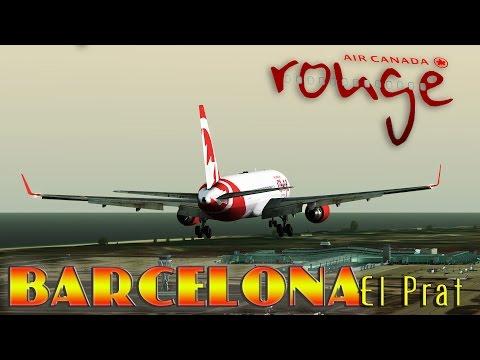 FSX [HD] - Air Canada Rouge |Boeing 767-300 | Approach to Barcelona- El Prat