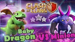 [Update] Clash Of Clans attack | Baby Dragon vs Minion 3 STARS ATTACK | New Attack Strategy
