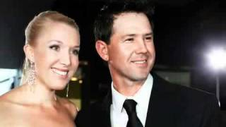 Australia Cricket team - Players Wife, Girlfriend and Family mates.avi