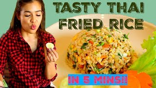 Easy Thai recipe : 5 mins TASTY Thai Fried Rice ข้าวผัด 5 นาที