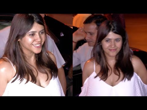 Ekta Kapoor Hot Cleavage Show In White Dress thumbnail