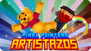 PIXEL PAINTERS: ARTISTAZOS! | Minecraft - Macundra y Luh