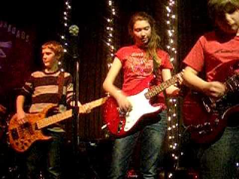 Justine on Guitar Two Princes with Chris Barron.AVI