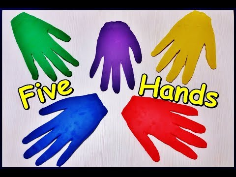 Learn Colors with 5 Hands  - Five Colors Finger Family Nursery Rhymes Songs