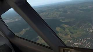 [X-Plane 11.32 VR] Full Flight from LSZH (Zurich) to EDDM (Munich) with Zibo 737-800 [English]