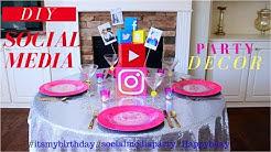 DIY | TEEN Birthday Party Decoration Ideas | Social Media Party Decor Ideas