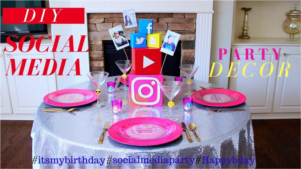 diy | teen birthday party decoration ideas | social media party