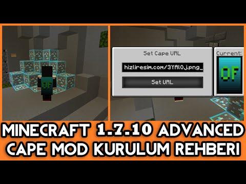 Minecraft 1.7.10 Cape Mod + Optifine!! - YouTube