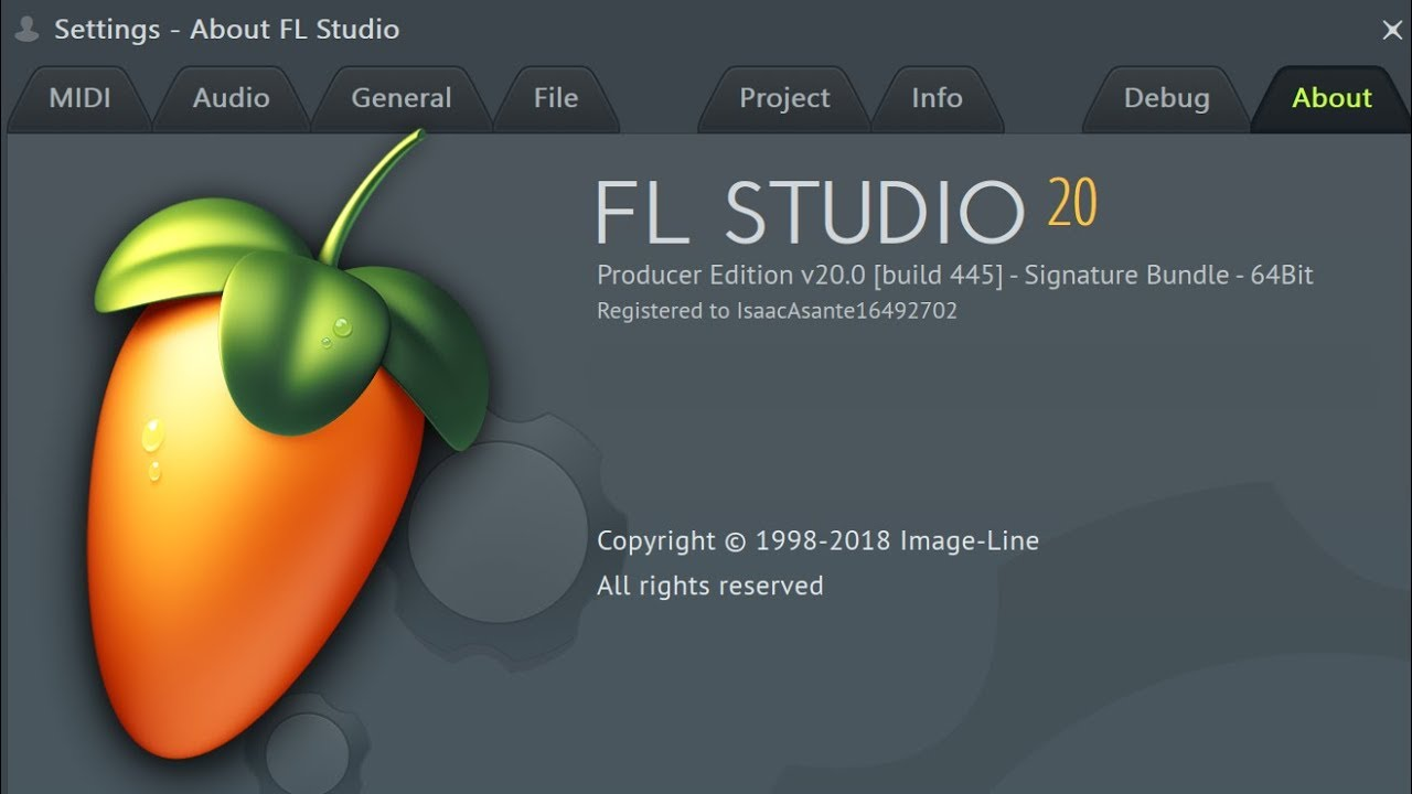 FL Studio 20: Unlocking full version with regkey
