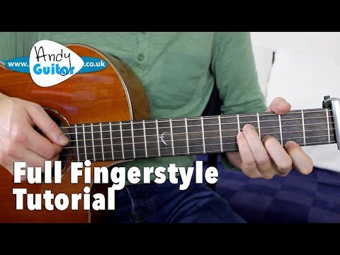 Somewhere Over The Rainbow Fingerstyle Tutorial Guitar Lesso
