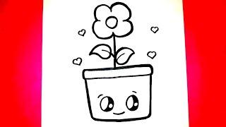 Kolay Çiçek Çizimi❤Kolay Çizimler- Nasıl Çizilir- Eğitici Videolar