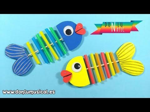 Manualidades fáciles para niños de infantil y preescolar. Peces de goma eva