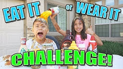 EAT IT OR WEAR IT CHALLENGE!!! Fun with Food!