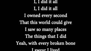 OneRepublic I Lived Lyrics - mp3 مزماركو تحميل اغانى