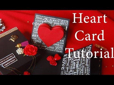 TUTORIAL - Heart Card for Explosion Box|DIY Heart Card