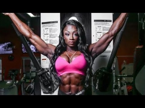 Black Female Fitness Motivation- -Sexy Muscle