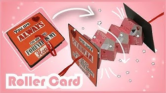 DIY Roller Card Tutorial    Roller Card for Scrapbook    By The Craft Gallery India