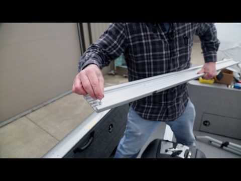 Riveting Traxstech Tracks On Crestliner Boat