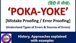 POKA-YOKE / Mistake Proofing – Concept, History and Approaches explained with examples