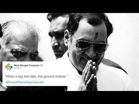 WBPCC tweets Rajiv Gandhi's controversial quote on his birth anniversary