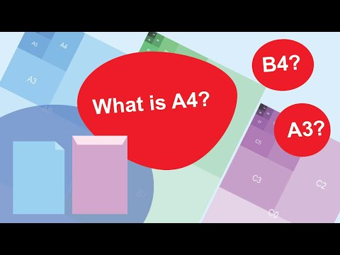 ISO Paper Sizes Explained (What is A4, B4 etc sizes?)