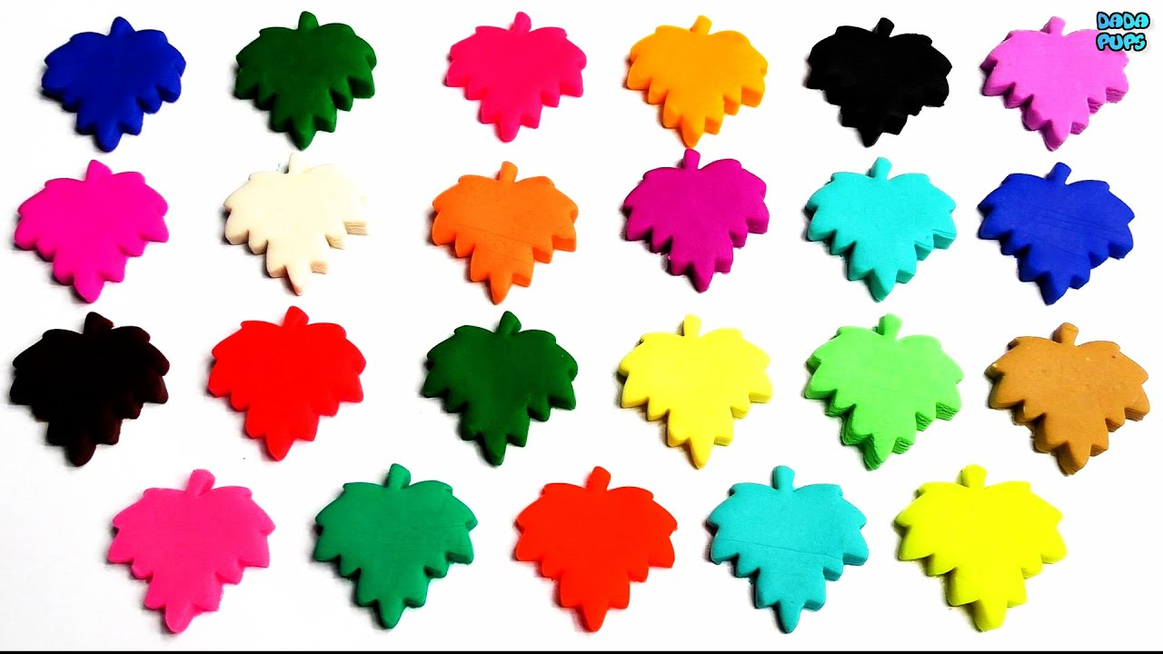 Learn Colors with Play Doh Maple Leaf |Name of Countries, Flags ...