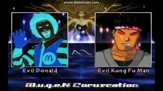 MUGEN Evil Donald vs Evil Kung Fu Man
