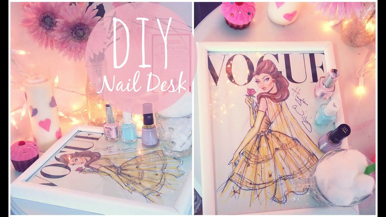 Diy Nail Desk Diy Nail Desk Easy And Inexpensive Theclassyitgirl