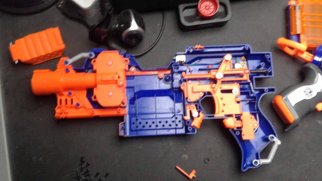 Tutorial Nerf N Strike Elite Stryfe Faster Firerate Mod