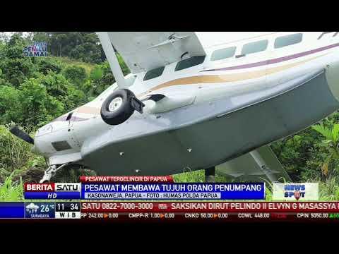 Pesawat Bawa Tujuh Penumpang Tergelincir di Papua Mp3