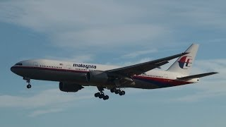 Malaysia Airlines Boeing 777 9M-MRO (Missing Plane) Landing at Frankfurt Airport (full HD)