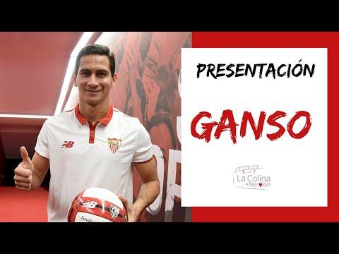 Presentación de Ganso con el Sevilla FC