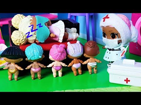 УСНУЛА НА ПРИВИВКЕ! МАЛЫШИ ЛОЛ В ДЕТСКОМ САДИКЕ И СОННАЯ ВОСПИТАТЕЛЬНИЦА #куклы #ЛОЛ #Мультики