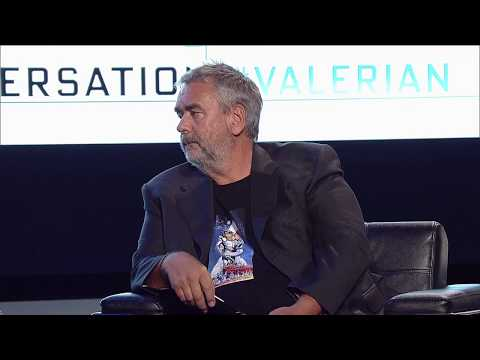 Luc Besson  with Swoozie  YouTube Space LA
