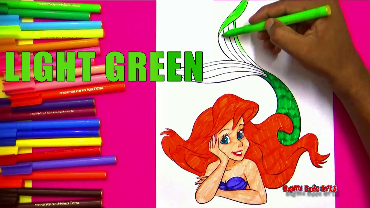 disney princess ariel coloring pages learn colors with names