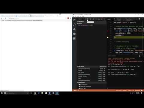Debugging Node js with Visual Studio Code - YouTube