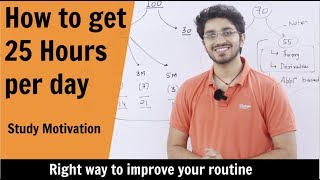 How to get 25 hours a day | Right way to make Time Table | Motivational Video