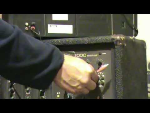Mixer-Amplificador PEAVEY XR 600 CONECCIONES y FUNCIONAMIENTO