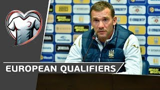 European Qualifiers UKRAINE LITHUANIA Прес конференція Андрія Шевченка